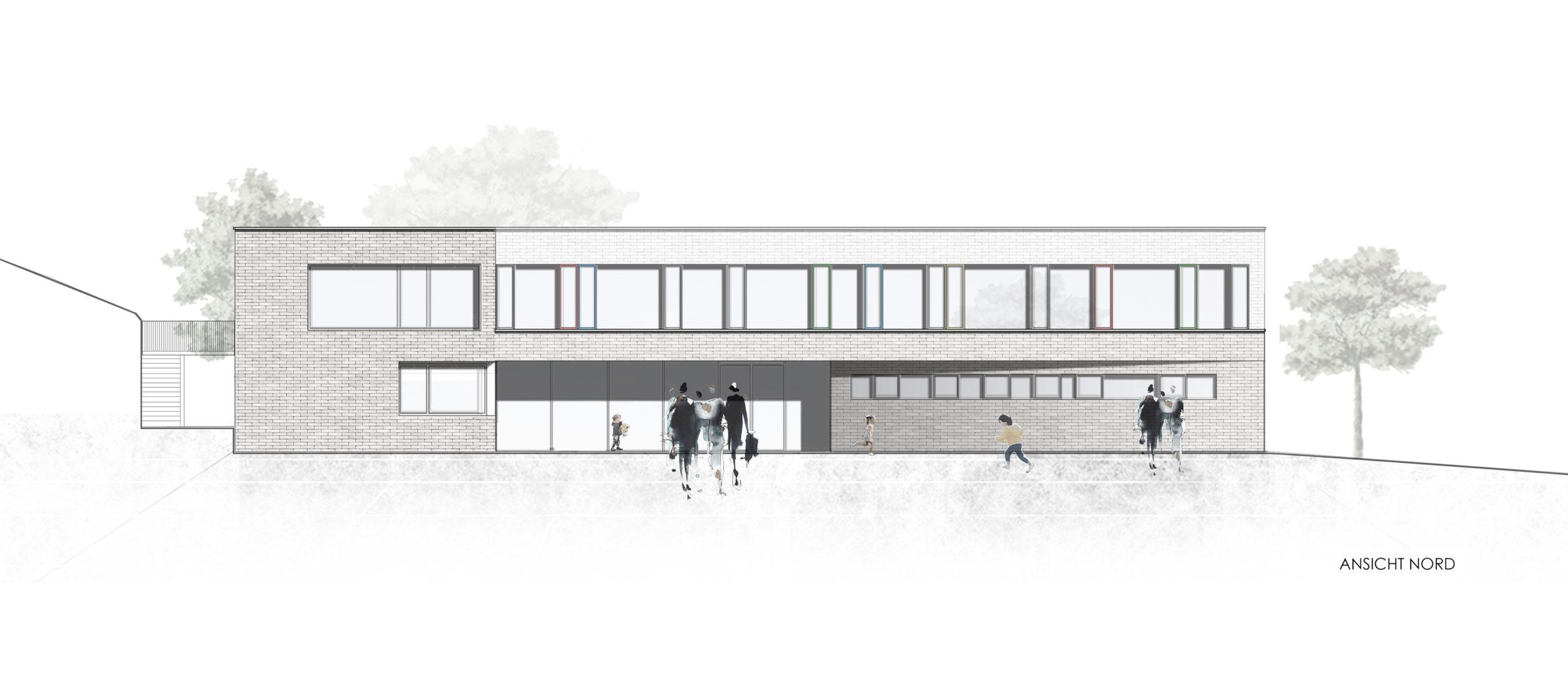 Visualisierung KiTa St. Clemens, Trier-Ruwer Neubau Ansicht Nord