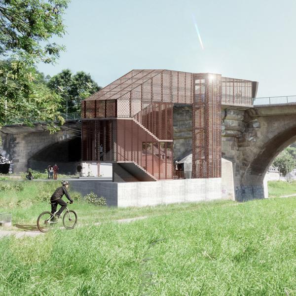 Visualisierung Wettbewerb Bahnstation Trier Pallien Entwurf