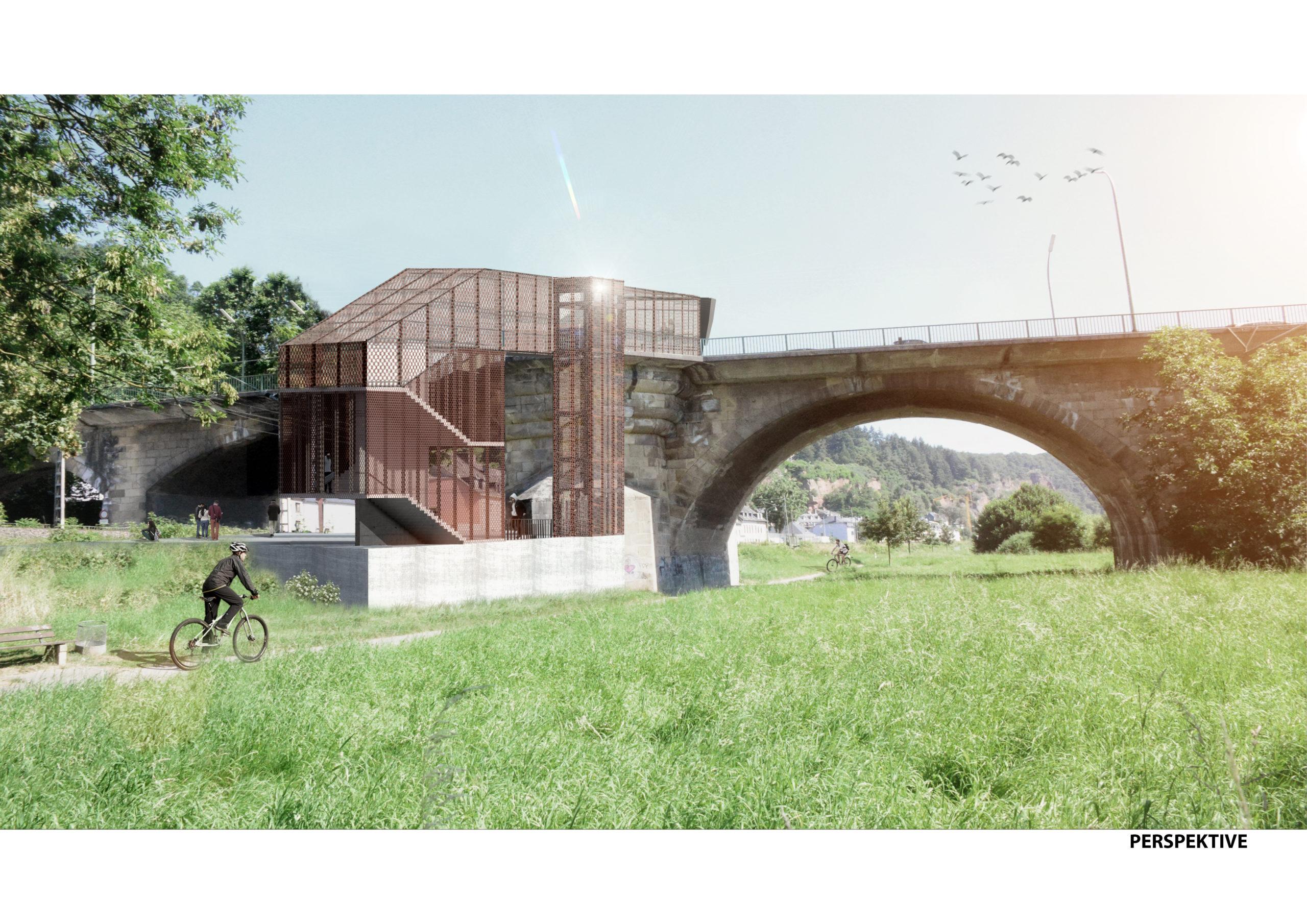 Entwurf Wettbewerb Station Trier Pallien Visualisierung