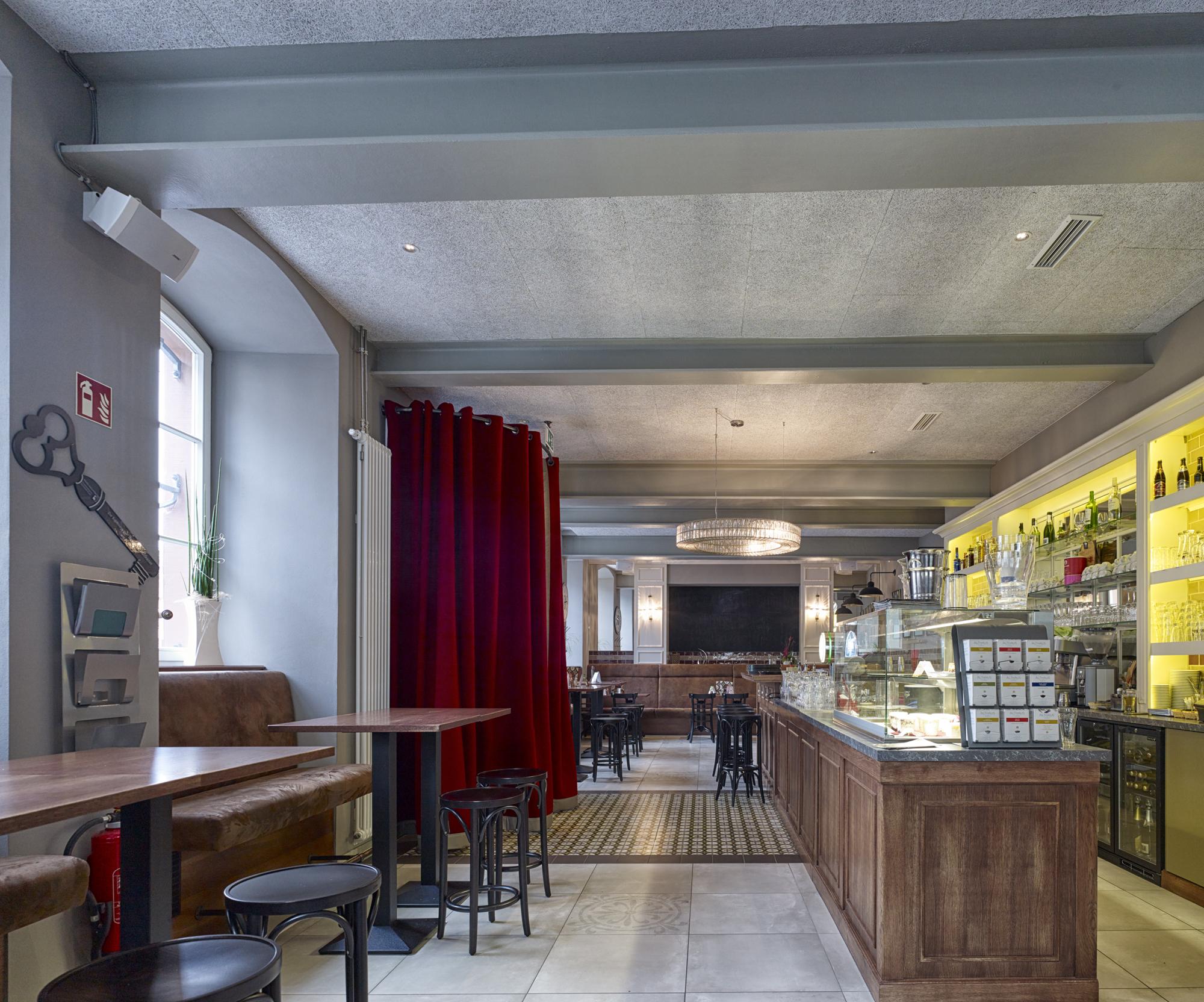 Thurn und Taxis Gebäude, Wittlich Revitalisierung Innenansicht Café