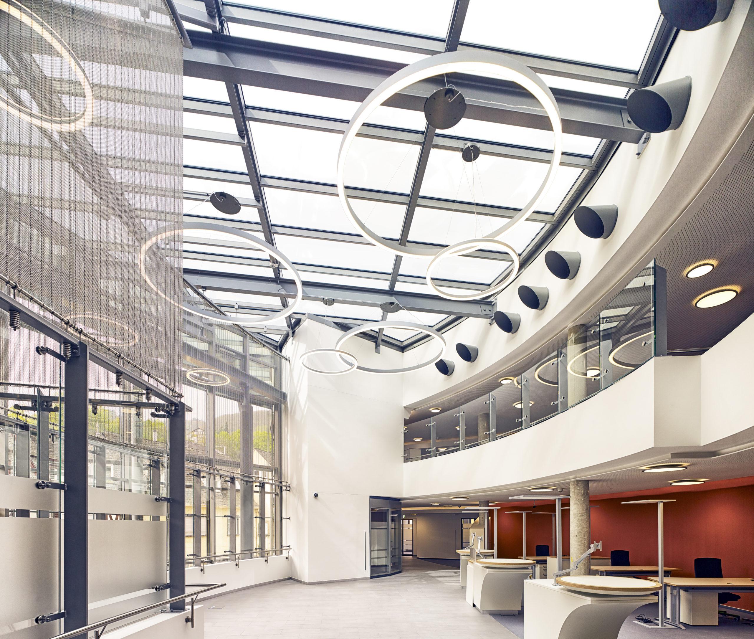 Sparkasse, Cochem Umbau und Sanierung Eingangsbereich innen