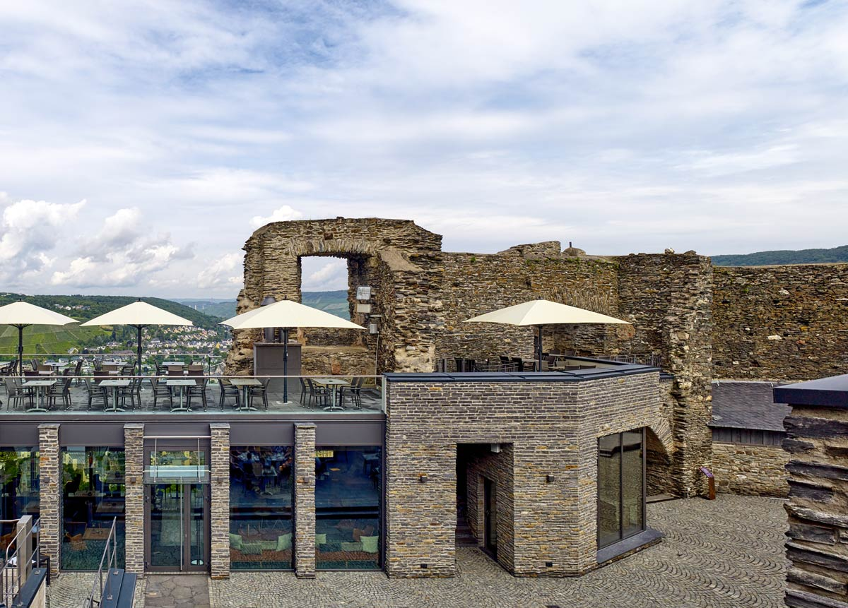 Burg Landshut Bernkastel-Kues Restaurant Außen