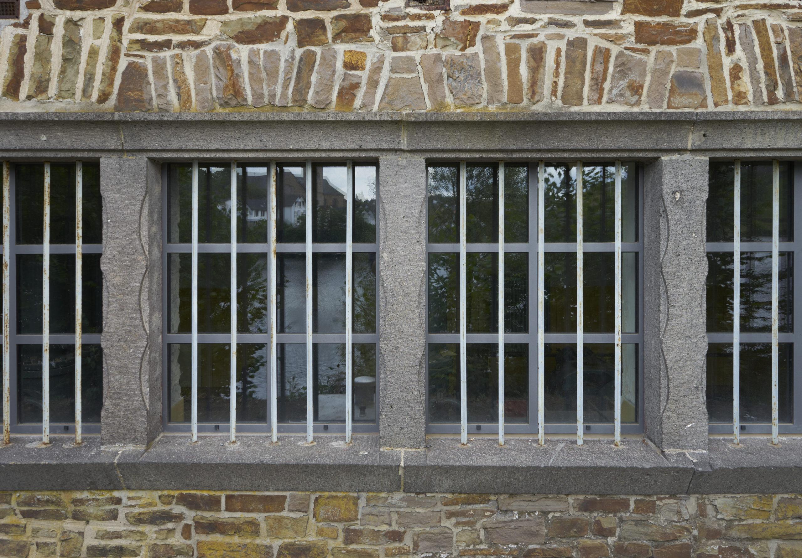 Nahaufnahme Fenster Pumpenhaus in Ulmen