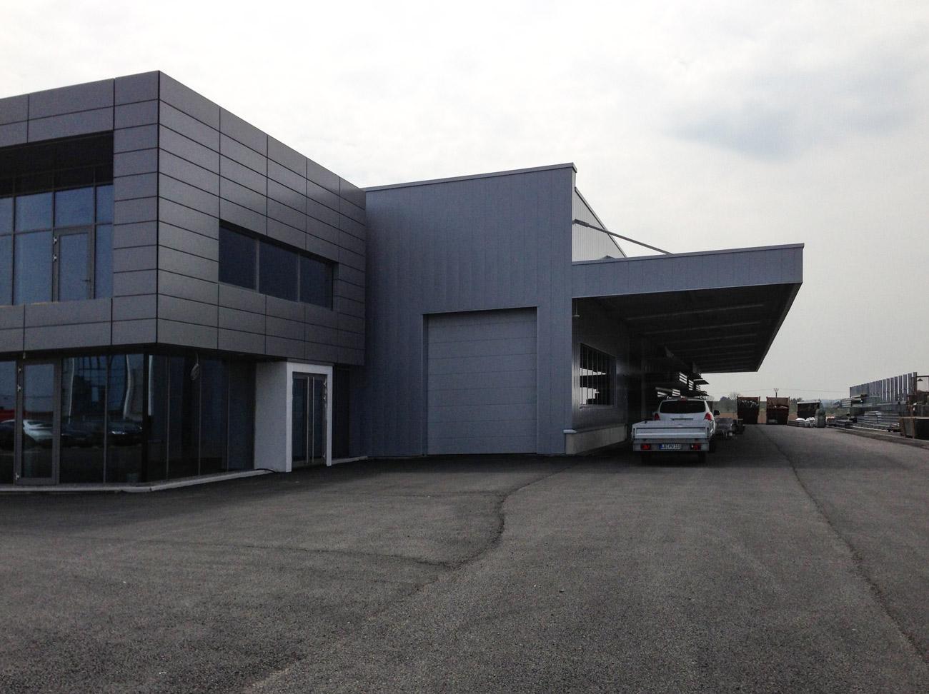 Seitenansicht Verwaltungsgebäude, Backnang Neubau