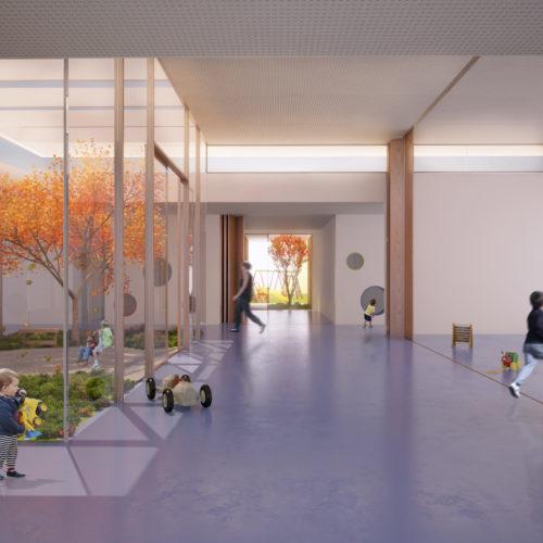 Entwurf KiTa St. Johannes der Täufer, Montabaur Neubau Innen