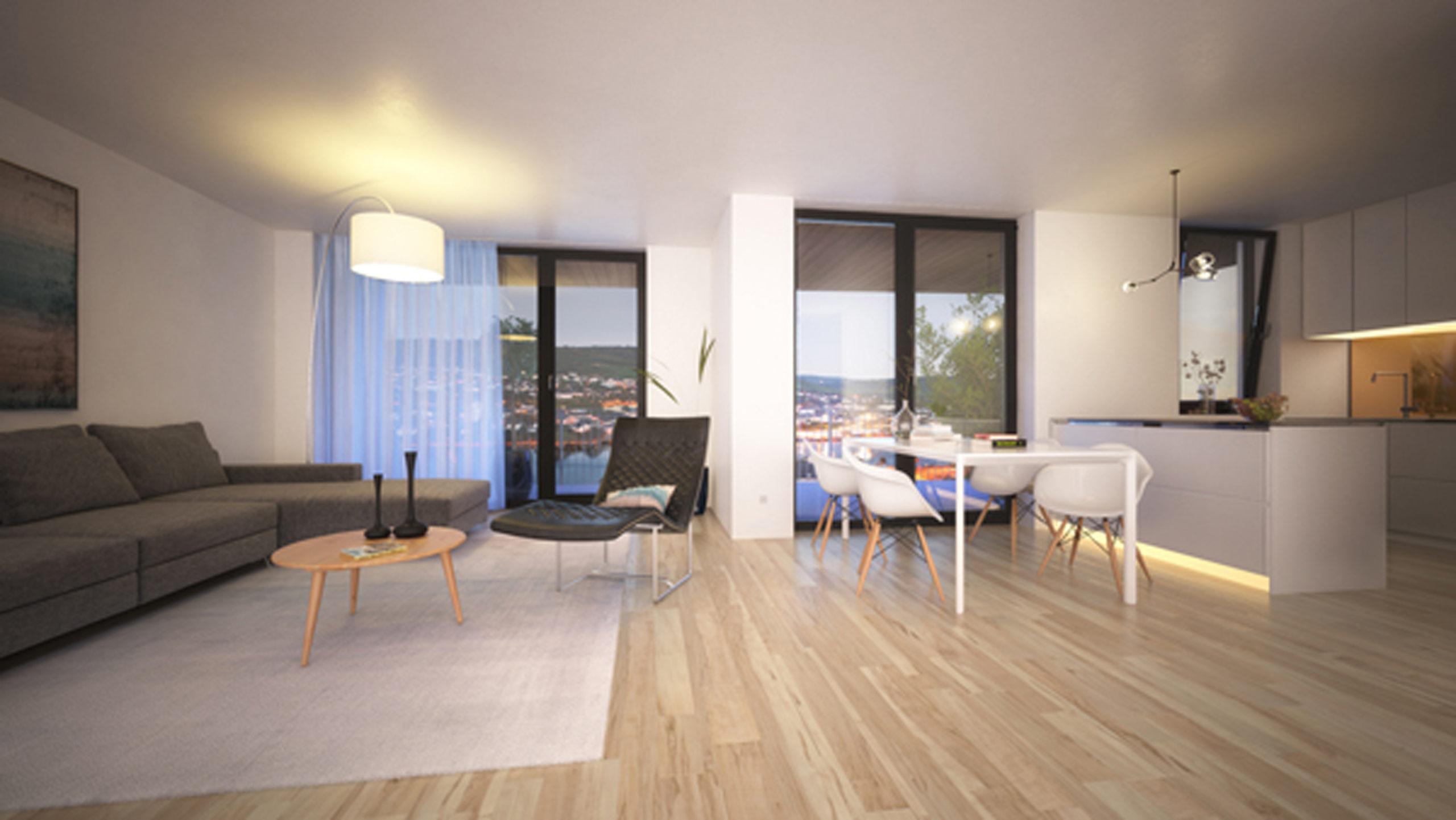 Visualisierung Wohnbereich Wohnanlage, Bullay Neubau