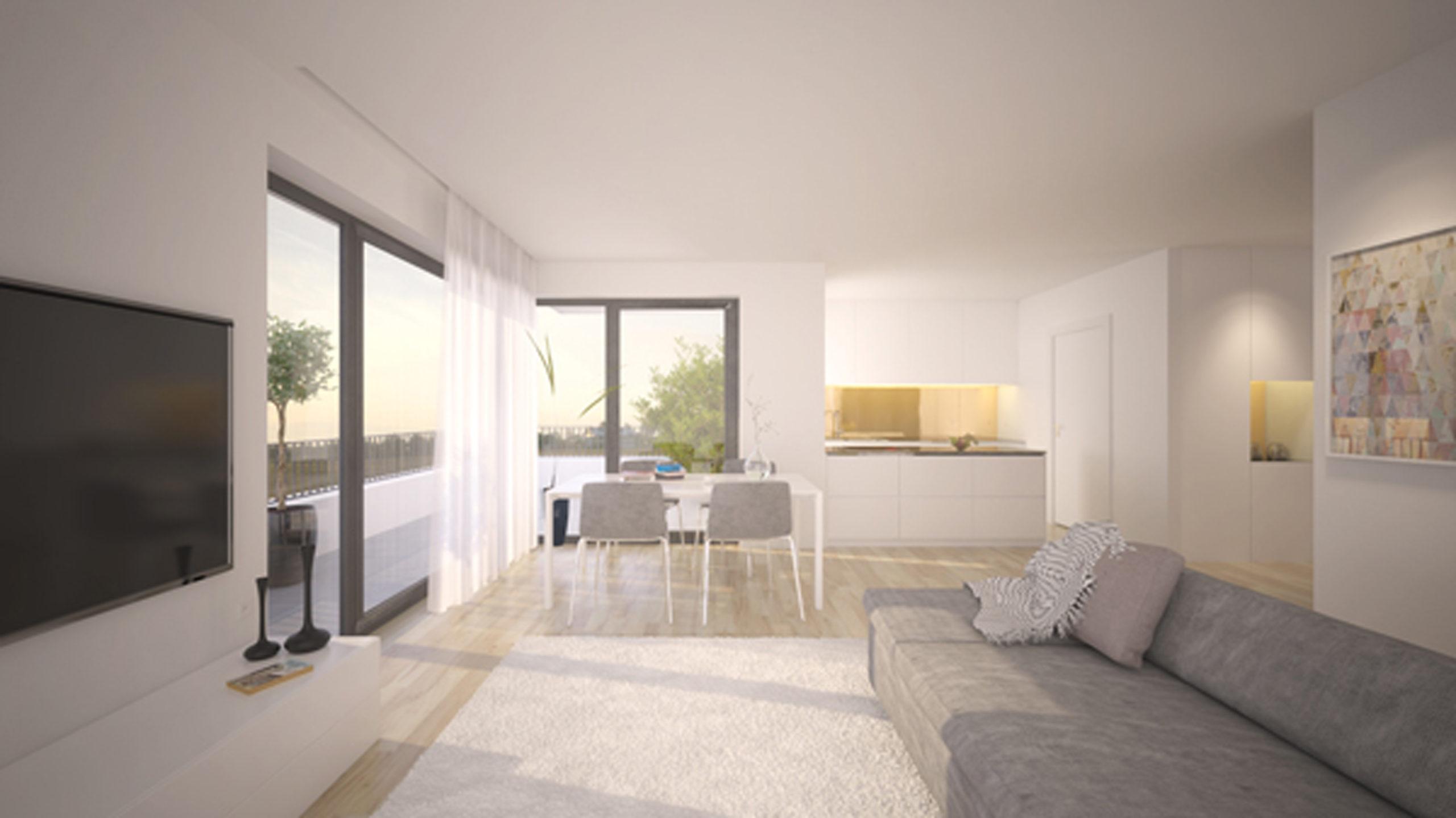 Wohnraum Innenansicht Wohnanlage, Bullay Neubau